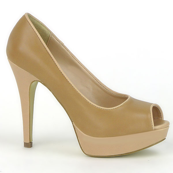Damen Pumps Peeptoes - Beige