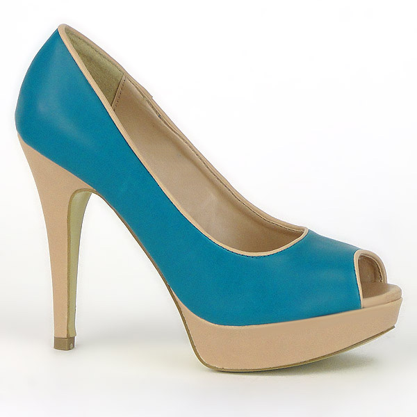 Damen Pumps Peeptoes - Blau