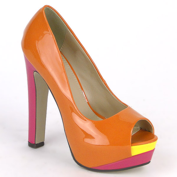 Damen Klassische Pumps - Orange