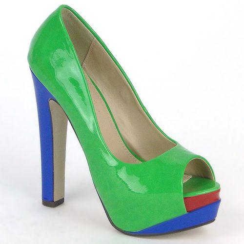 Damen Pumps Klassische Pumps - Grün