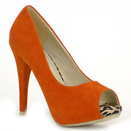 Damen Pumps Plateau Pumps - Orange