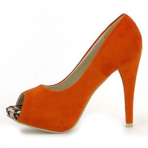 Damen Plateau Pumps - Orange