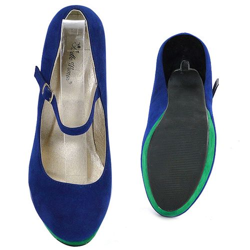 Damen Pumps Mary Janes - Blau