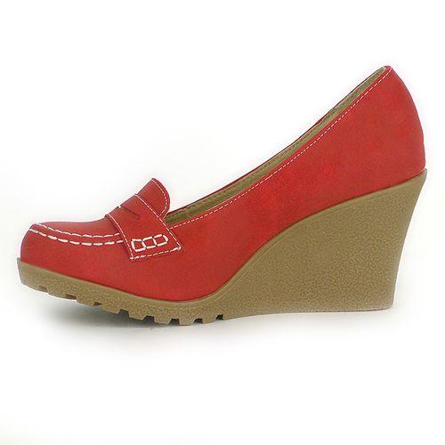 Damen Pumps Loafers - Rot