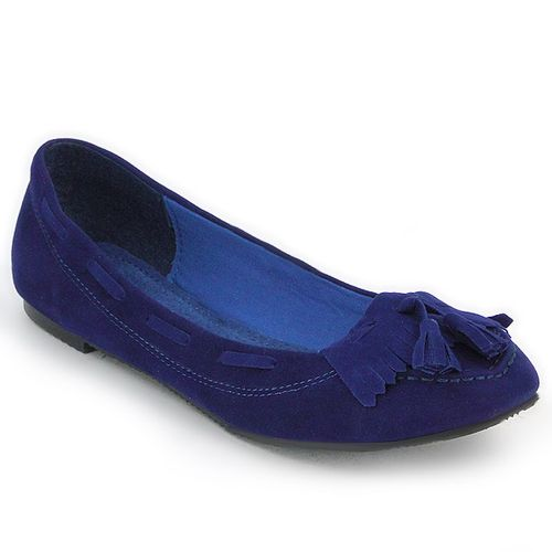 Damen Ballerinas Loafers - Blau