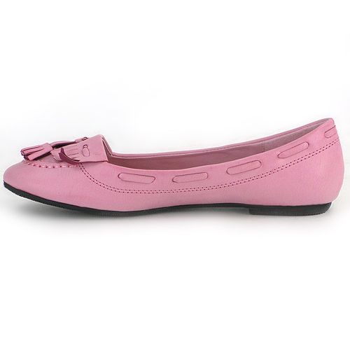 Damen Ballerinas Loafers - Fuchsia