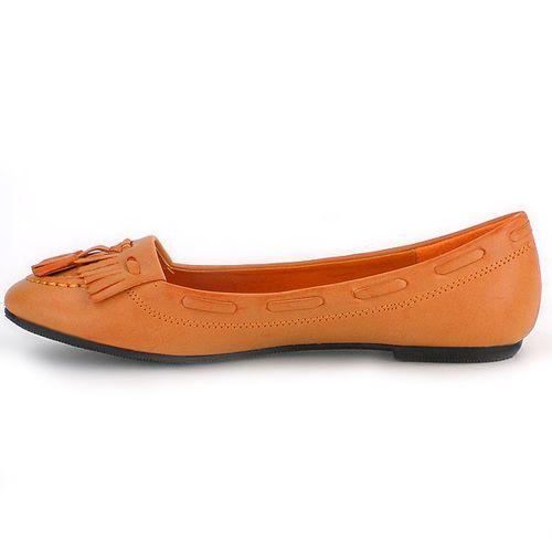 Damen Ballerinas Loafers - Orange