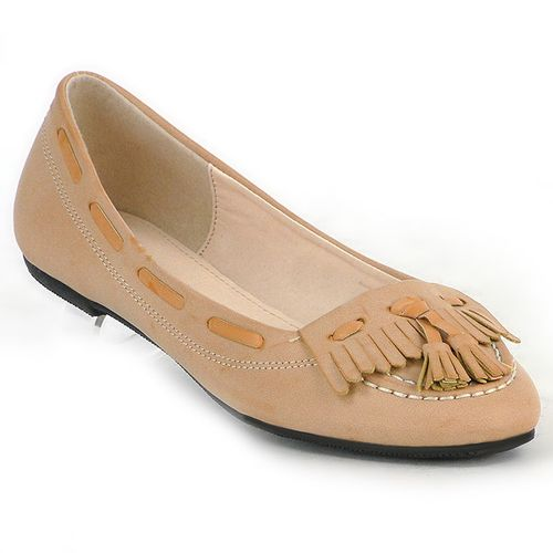 Damen Ballerinas Loafers - Khaki