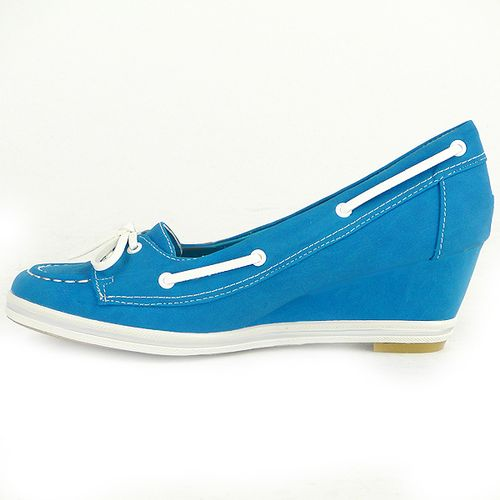Damen Pumps Loafers - Blau
