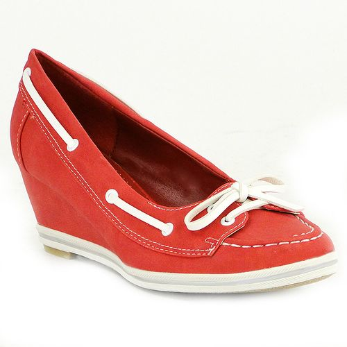 Damen Pumps Loafers - Rot