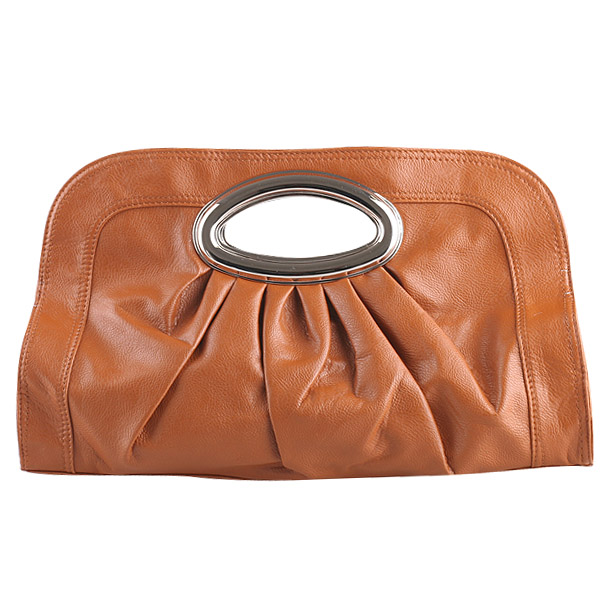 Damen Clutch - Hellbraun