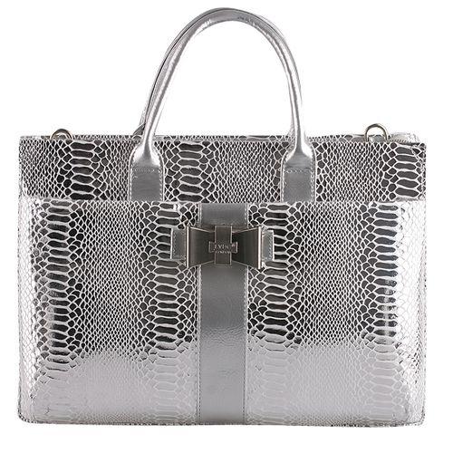 Damen Schulter Tasche - Silber
