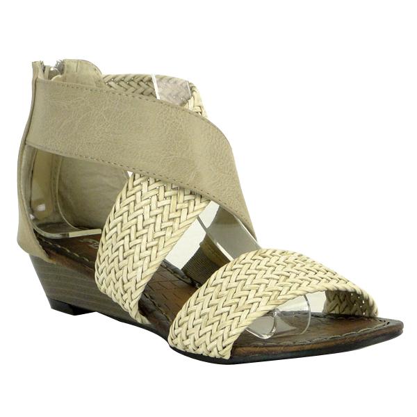 Damen Sandalen Ankle Boots - Beige