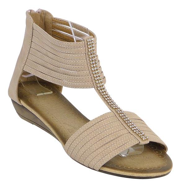 Damen Sandalen Ankle Boots - Pink