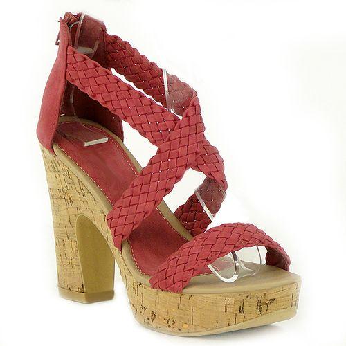 Damen Sandaletten Ankle Boots - Rot