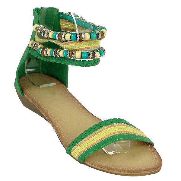 Damen Komfort Sandalen - Grün