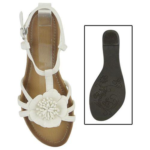 Damen Sandalen Ankle Boots - Weiß