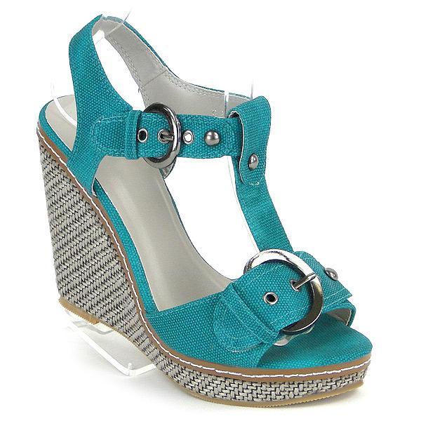 Damen Pumps Ankle Boots - Grün
