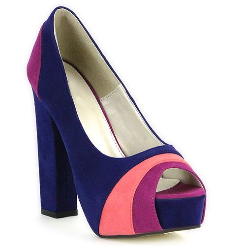 Damen Pumps Plateau Pumps - Blau