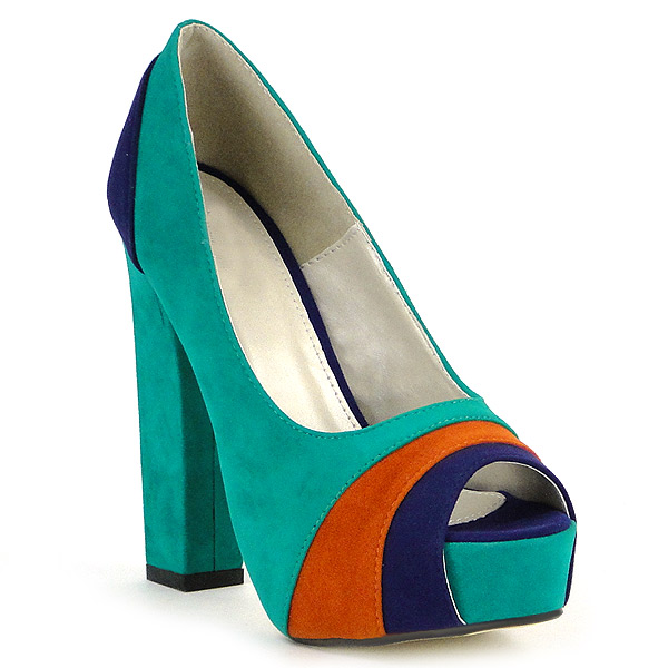 Damen Pumps Plateau Pumps - Grün