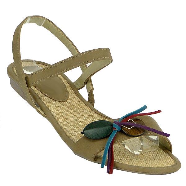 Damen Sandalen High Heels - Khaki