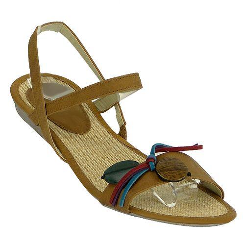 Damen Sandalen High Heels - Hellbraun