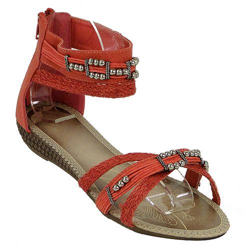 Damen Sandalen Ankle Boots - Rot