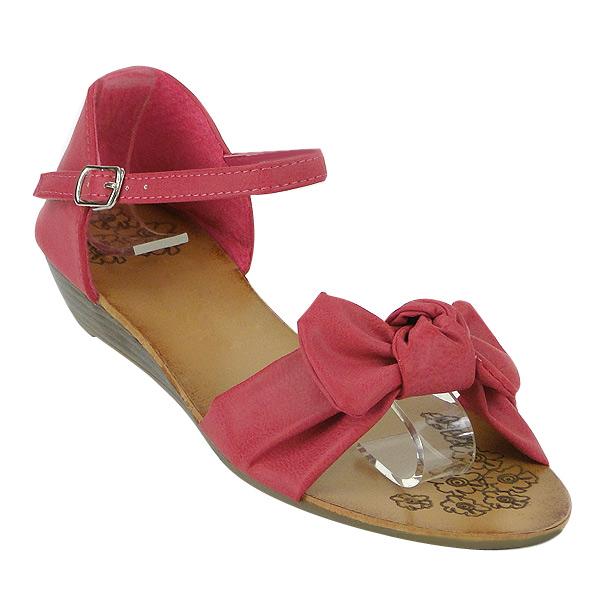 Damen Sandalen Ankle Boots - Fuchsia