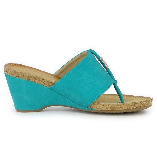 Damen Sandaletten Zehentrenner - Blau