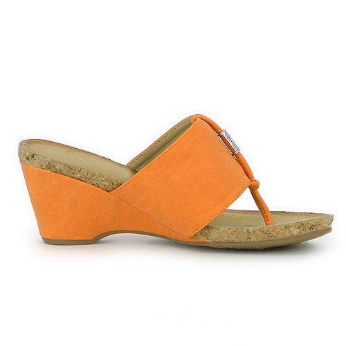 Damen Sandaletten Zehentrenner - Orange