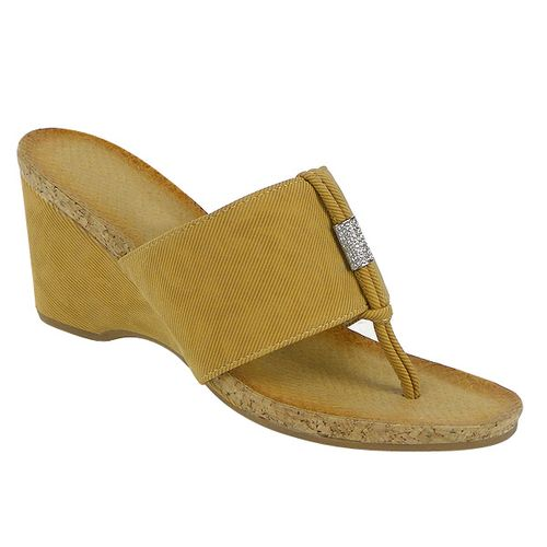 Damen Sandaletten Zehentrenner - Hellbraun