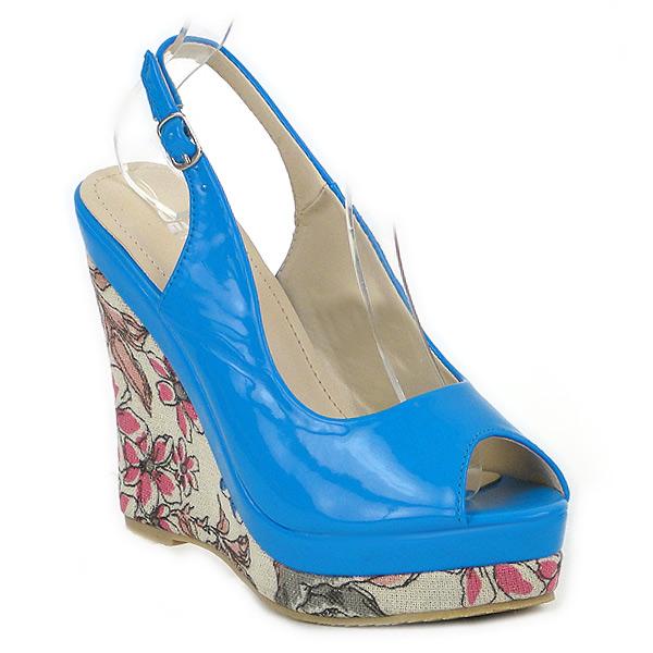 Damen Plateau Pumps - Blau