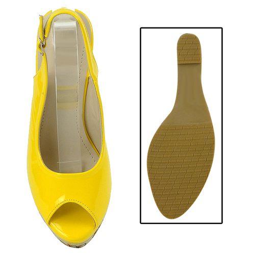 Damen Plateau Pumps - Gelb