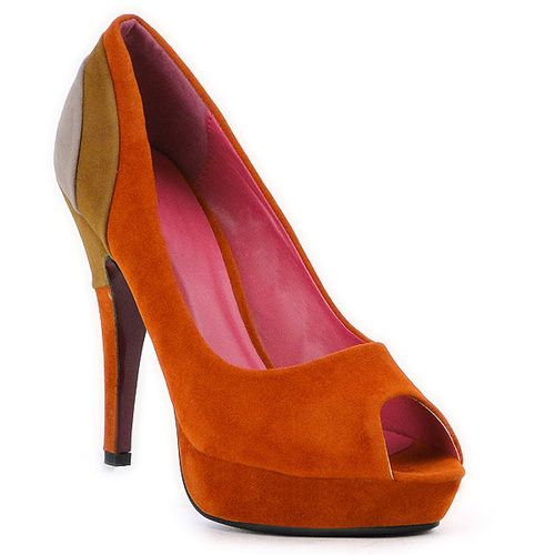 Damen Plateau Pumps - Orange