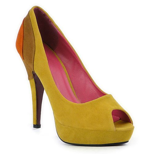 Damen Plateau Pumps - Gelb