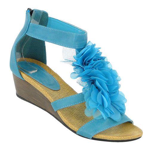Damen Pumps Ankle Boots - Blau