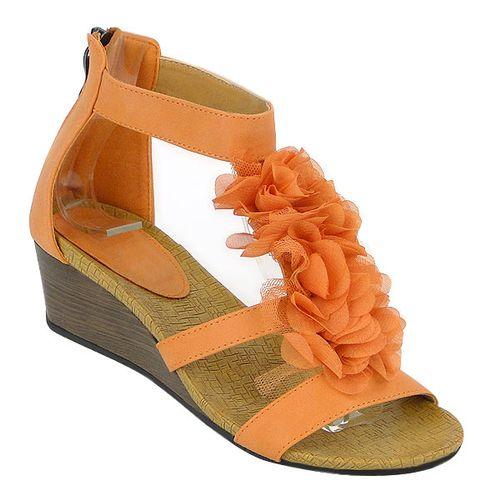 Damen Pumps Ankle Boots - Orange