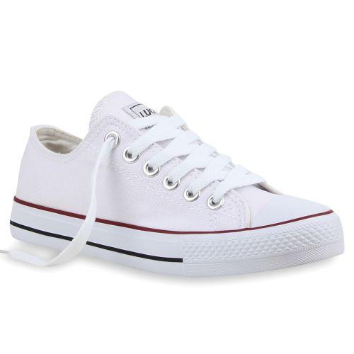 Weiß Sneaker Damen Sneaker Weiß Damen Low Low Damen 8RqpB