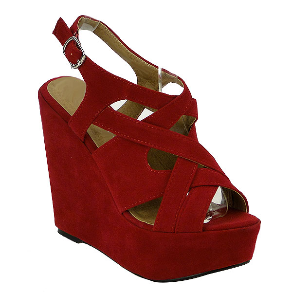 Damen Plateau Pumps - Rot