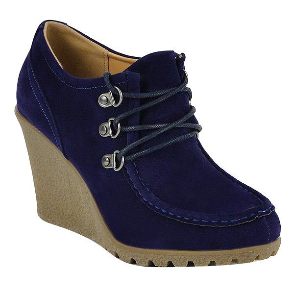 Damen Pumps Keilstiefeletten - Blau