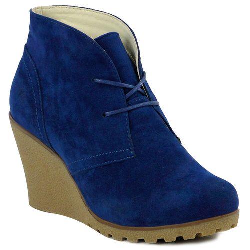 Damen Stiefeletten Ankle Boots - Blau