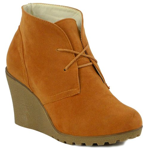 Damen Stiefeletten Ankle Boots - Orange
