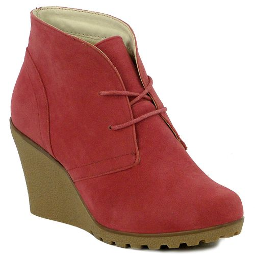 Damen Stiefeletten Ankle Boots - Fuchsia