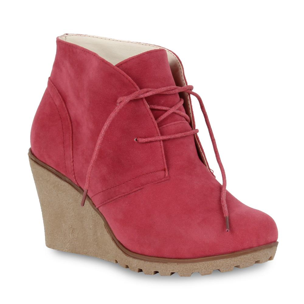 Damen Stiefeletten Ankle Boots - Pink