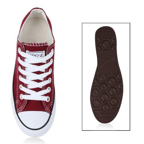 Damen Sneaker low - Weinrot