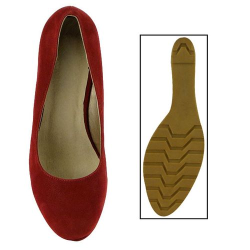 Damen Pumps Keilpumps - Rot