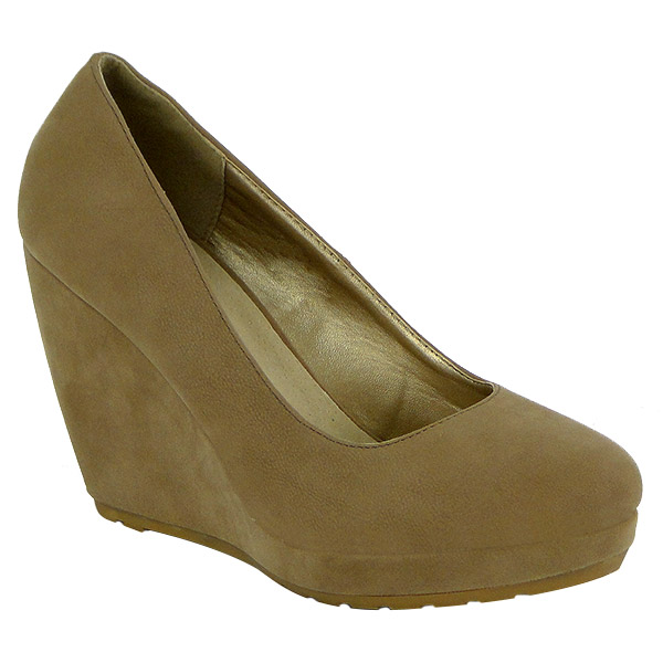 Damen Pumps Keilpumps - Khaki