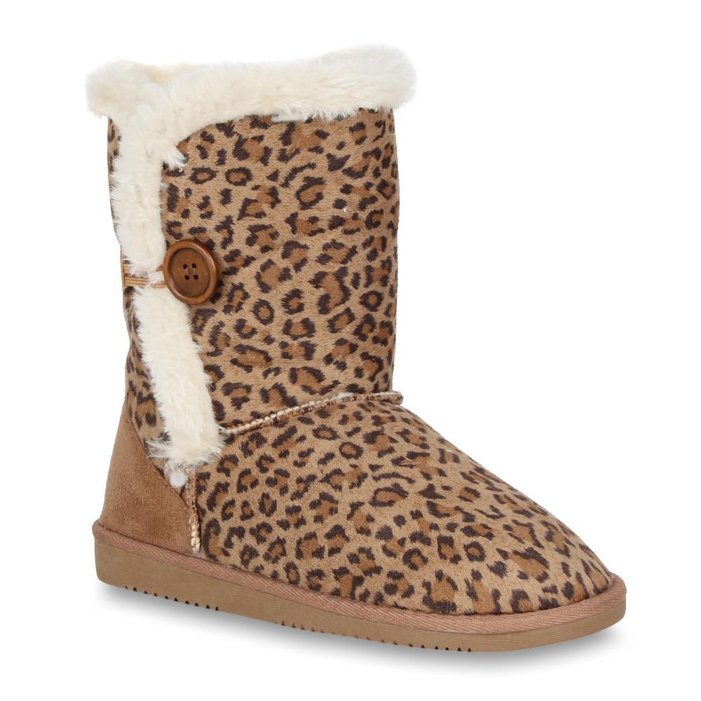 Damen Stiefel Schlupfstiefel - Leopard