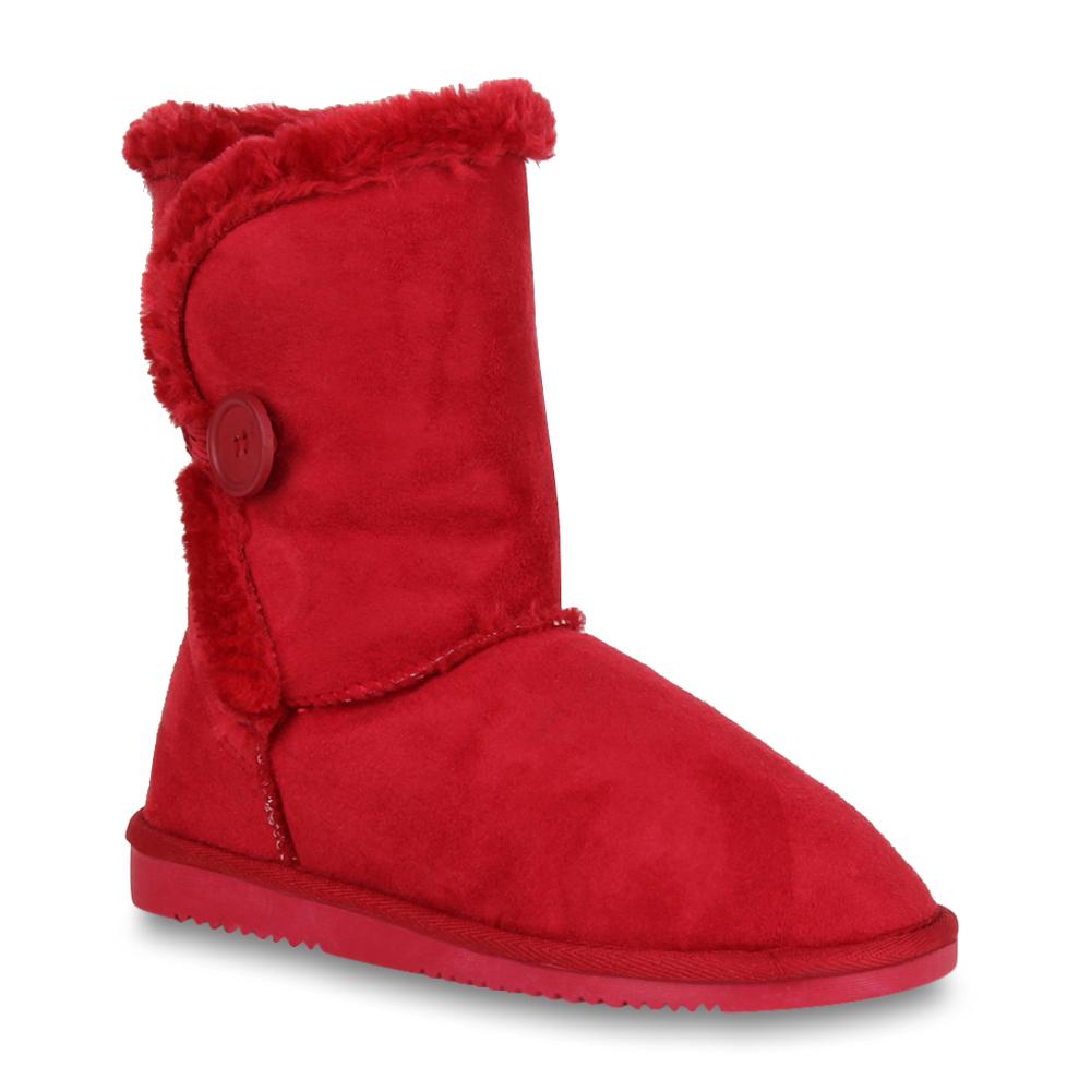 Damen Stiefel Schlupfstiefel - Rot