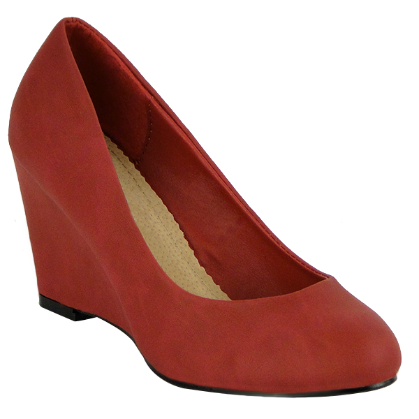 Damen Pumps Keilpumps - Rot